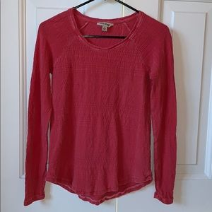 Red patterned Lucky Brand top